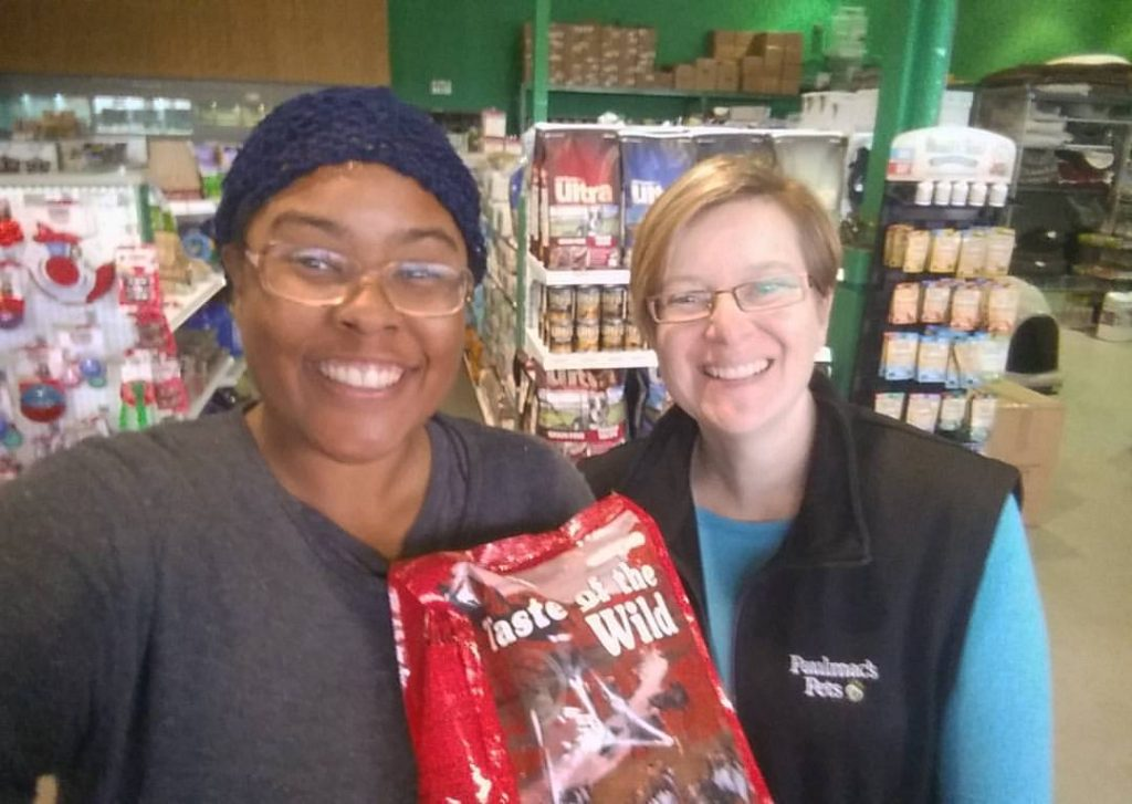 Wonderful pet store gave Fiji a free bag of food. Thank you!